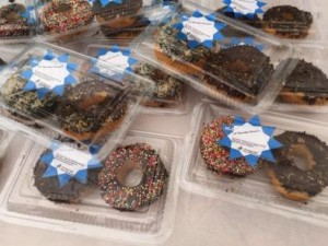 Seaweed donuts on sale in Indonesia.